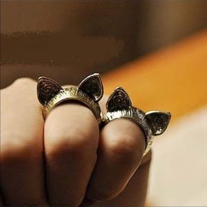 NWT Silver or Bronze Cat Ear Rings